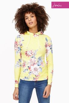 Joules Yellow Whitstable Marlston Print Hoody