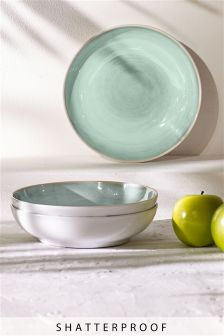 Set of 4 Country Melamine Dessert Bowls