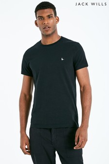 Jack Wills Black Sandleford Basic Tee