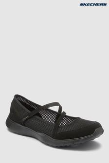 Skechers® Black Micro Burst Black Open Mesh Mary Jane