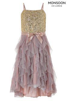 Monsoon Pink Marais High Low Dress