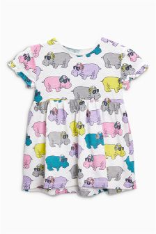 Hippo All Over Print Tunic (3mths-6yrs)