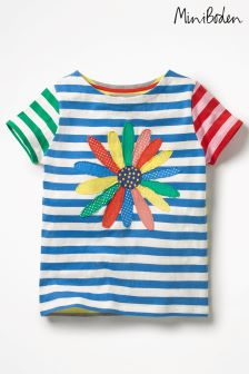 Boden Blue Hotchpotch Appliqué T-Shirt