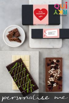 Personalised Artisan Chocolate Valentines Gift Set By Quirky Gift Library