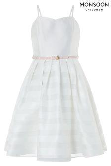 Monsoon White Elowen Prom Dress