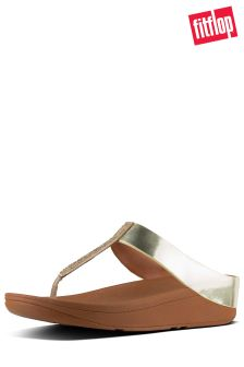 FitFlop™ Gold Crystal FINO™ Toe Post Sandal