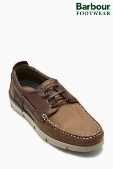Barbour Beige/Brown George Boat Shoe