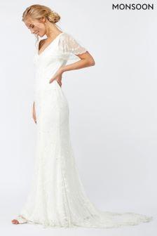 Monsoon Ivory Florence Embellished Maxi Dress