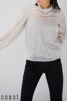 Coast Silver Lyra Animal Burnout Top