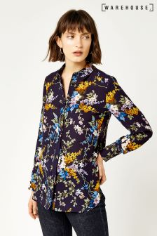 Warehouse Navy Trailing Floral Shirt
