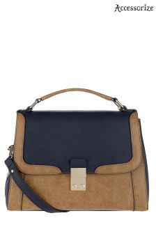 Accessorize Brown Campbell Colourblock Satchel