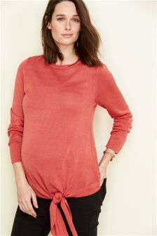 Maternity Knot Front Jumper