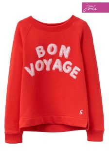 Joules Red Print Sweatshirt