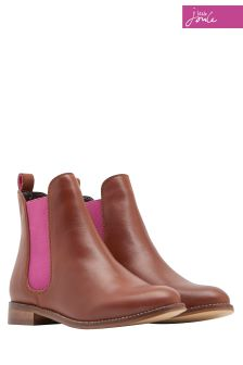 Joules Tan Leather Chelsea Boot