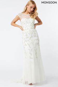 Monsoon Ivory Anastasia Embellished Maxi Dress