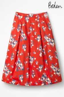 Boden Red Pop Tulip Lola Skirt