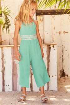 Embroidered Wide Leg Playsuit (3-16yrs)
