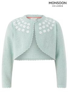 Monsoon Mint Baby Milly Daisy Bolero Cardigan