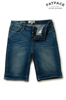 FatFace Denim Mid Wash Bermuda Short