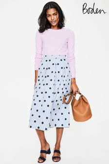 Boden Hazy Sky Spot On Stripe Lola Skirt