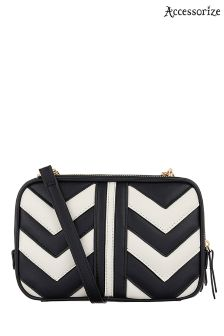 Accessorize Black Miranda Quilted Cross Body Bag