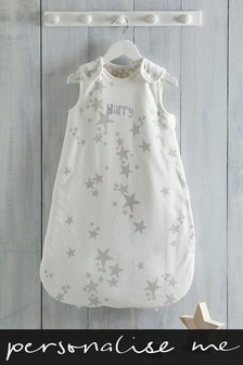 Personalised White Stars Sleepbag