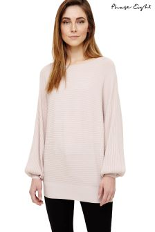 Phase Eight Soft Pink Bettine Balloon Sleeve Knit Jumper