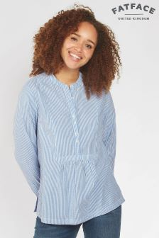 Fat Face Chambray Frankie Stripe Popover Shirt
