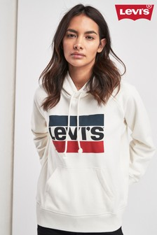 Levi's® White Sports Graphic Hoody