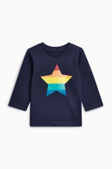 Long Sleeve Gold Star T-Shirt (3mths-6yrs)