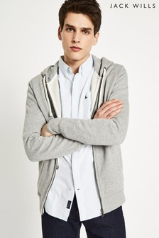 Jack Wills Grey Marl Pinebrook Zip Up Hoody