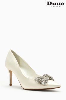 Dune Beaubelle Ivory Satin Court Shoe