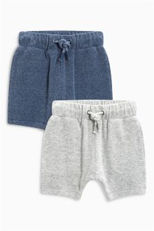 Towelling Shorts Two Pack (3mths-6yrs)