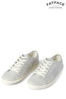 FatFace Grey Easton Lace Up Trainer