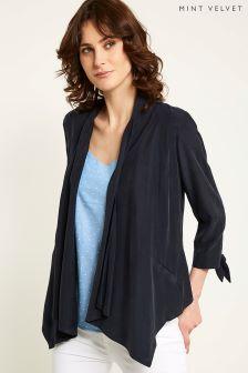 Mint Velvet Tie Sleeve Organic Jacket