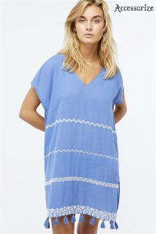 Accessorize Blue Lagoon Embroidered Kaftan