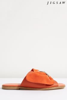 Jigsaw Orange Sete Buckled Slider