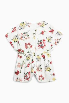 Printed Ruffle Playsuit (3-16yrs)