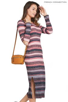 French Connection Red Multi Utility Dress