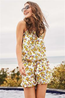 Ditsy Woven Playsuit