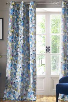 Shola Lined Eyelet Curtains