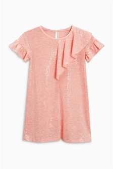 Sequin Frill Dress (3-16yrs)
