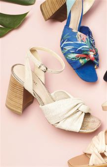 Twist Block Heel Sandals