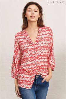 Mint Velvet Red Callie Print Blouse