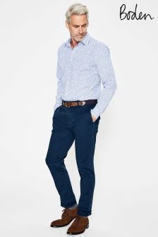 Boden Navy Lightweight Slim Chino