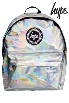 Hype. Silver Holographic Backpack