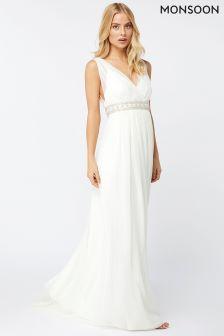 Monsoon Ivory Lottie Maxi Bridal Dress