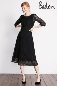 Boden Black Prudence Lace Dress