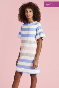 Joules Blue Stripe Sienna Dress