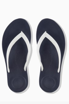 FitFlop™ Midnight Navy Mix iQushion™ Ergonomic Flip Flop